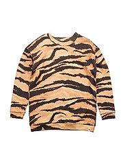 Lecce Sweat Brown Tiger AOP - BROWN TIGER