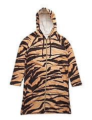 Lido Hoodie Dress Brown Tiger AOP - BROWN TIGER