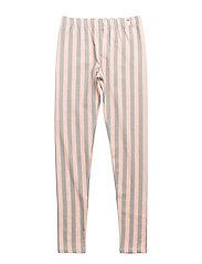 Leggings Stripe Peach/Green - STRIPE PEACH/GREEN