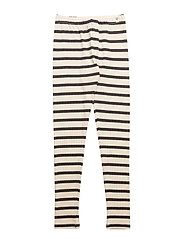 Leggings Maritime Off White With Navy - OFF WHITE WITH NAVY
