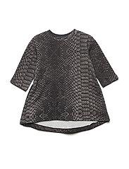 Wrinkle Dress - BLACK SNAKE