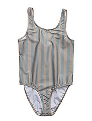 Classic Swimsuit Stripe Peach/Green - STRIPE PEACH/GREEN