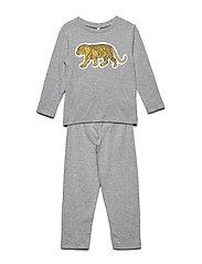 Night Wear - GREY MELANGE TIGER