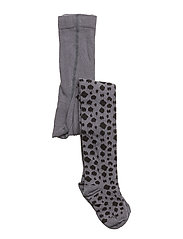 Stockings Black And Grey Leopard - LEOPARD