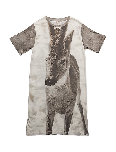 Night Dress Fawn AOP - FAWN