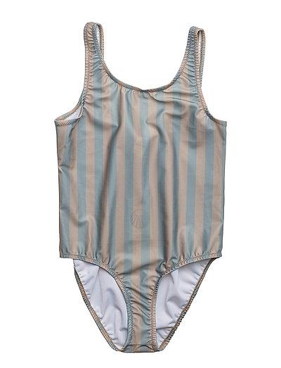 Classic Swimsuit Stripe Peach/Green - STRIPE PEACH/GREEN