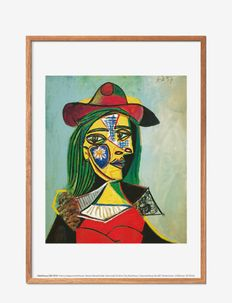 Woman in hat and Fur - affiches - multi-colored