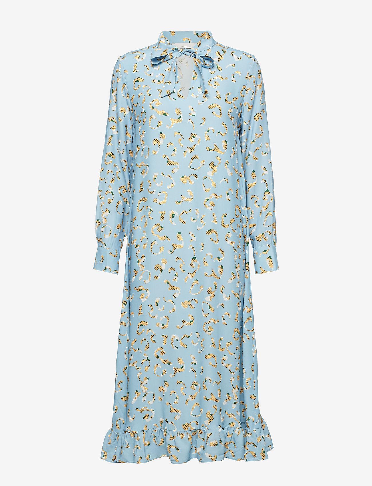 POSTYR - POSLAURETTE LONG DRESS - midi dresses - placid blue