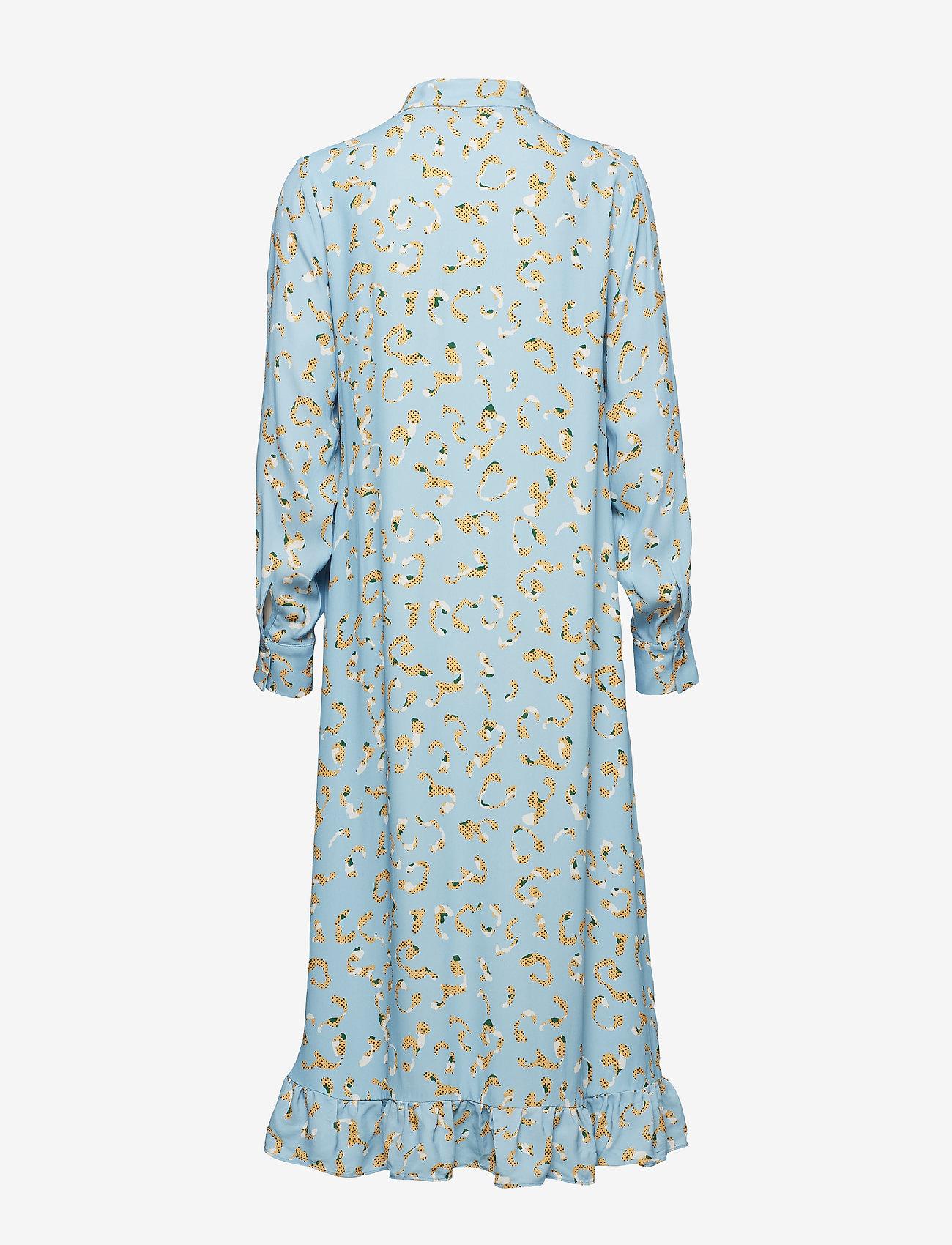 Postyr Poslaurette Long Dress - Klänningar Placid Blue