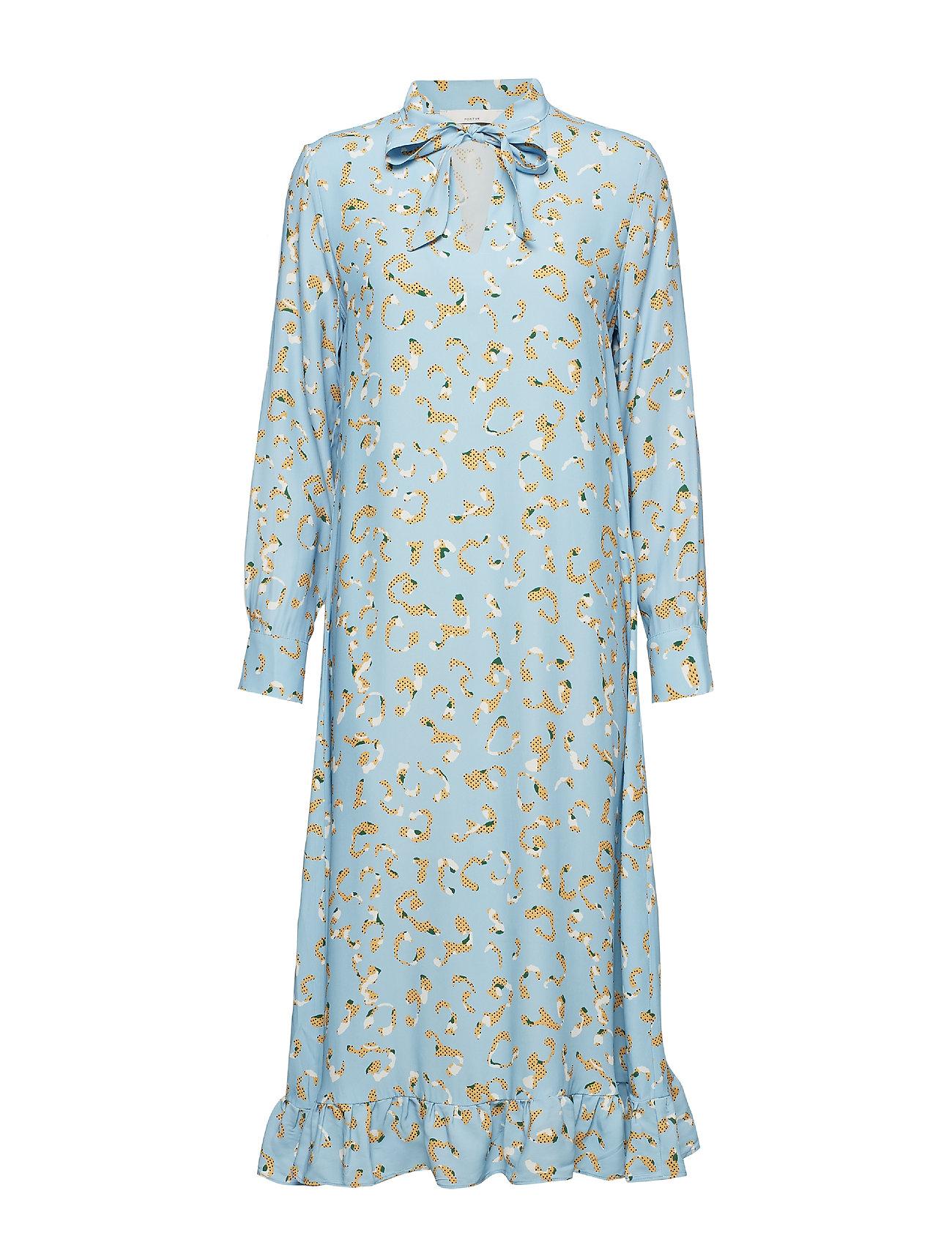 POSTYR POSLAURETTE LONG DRESS - PLACID BLUE