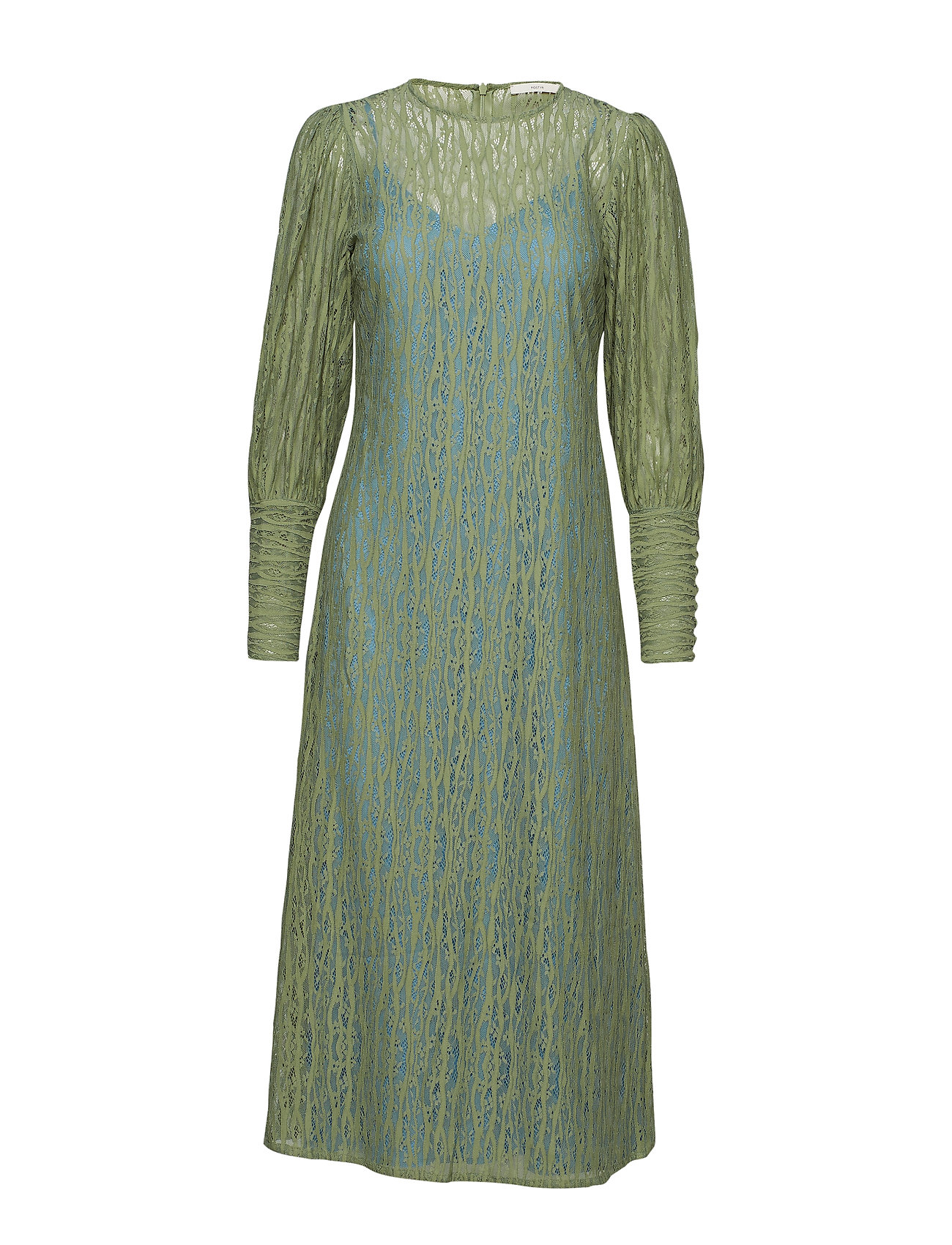 POSTYR POSALEXANDRA LACE DRESS - HEMLOCK