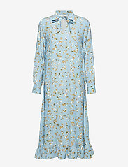 POSTYR - POSLAURETTE LONG DRESS - midi dresses - placid blue - 0