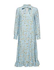 POSLAURETTE LONG DRESS - PLACID BLUE