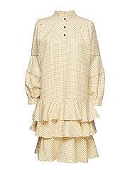 POSAGNES DRESS - APRICOT SHERBET