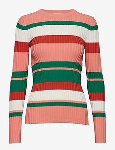 POSJULIANA STRIPE KNIT - PEACH BLOOM