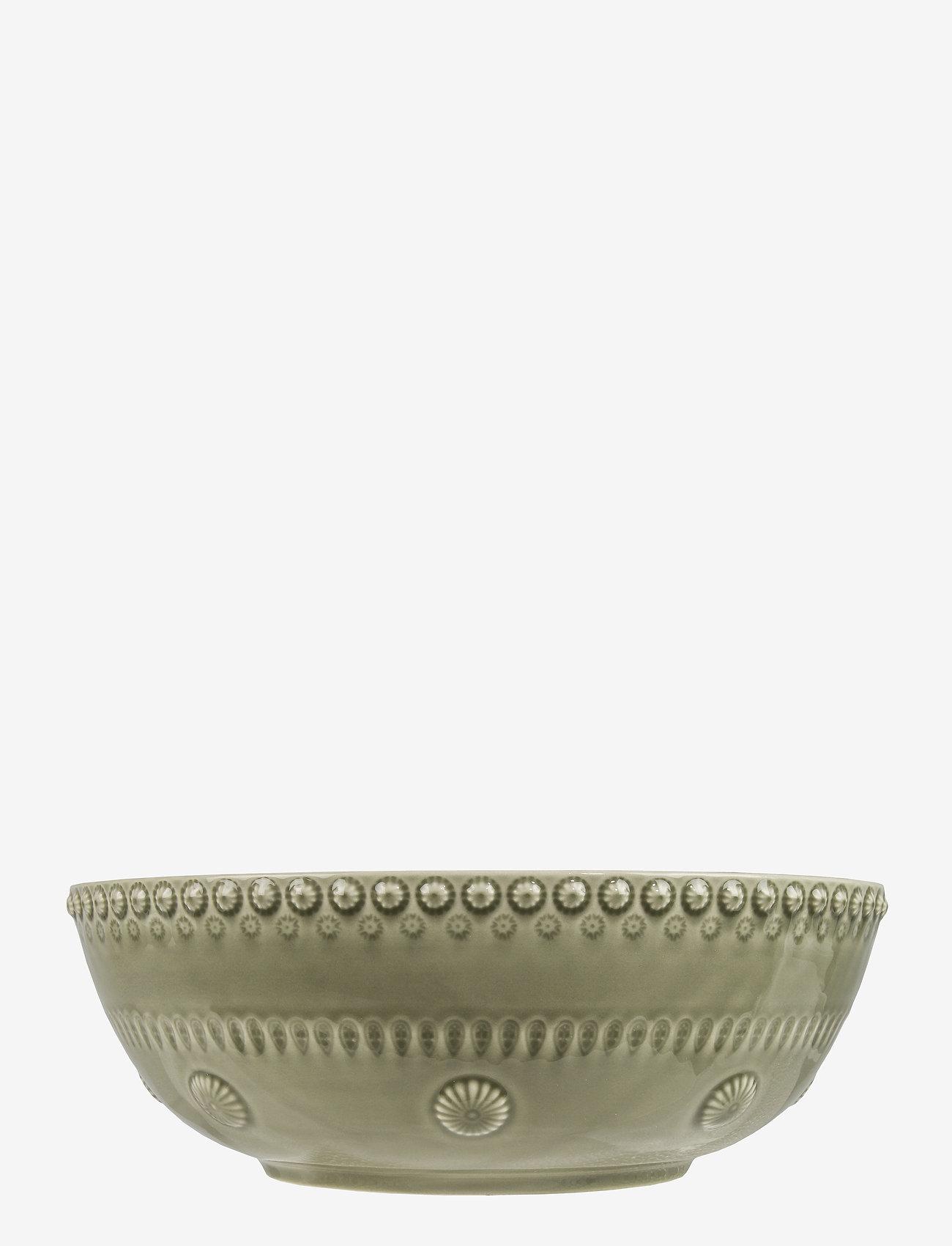 PotteryJo - DAISY Large salad bowl - salaattikulhot - faded army - 0
