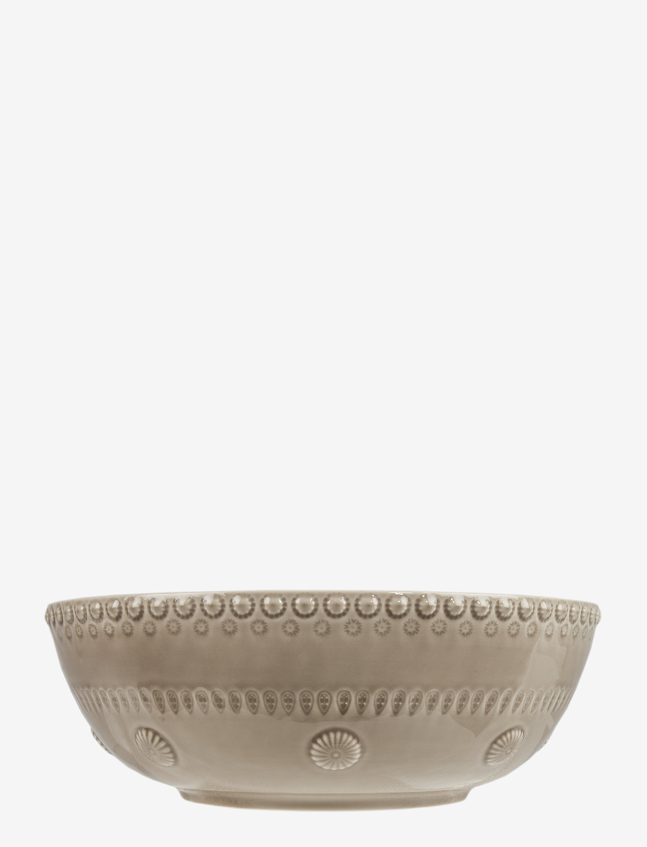 PotteryJo - DAISY Large salad bowl - salaattikulhot - greige - 0