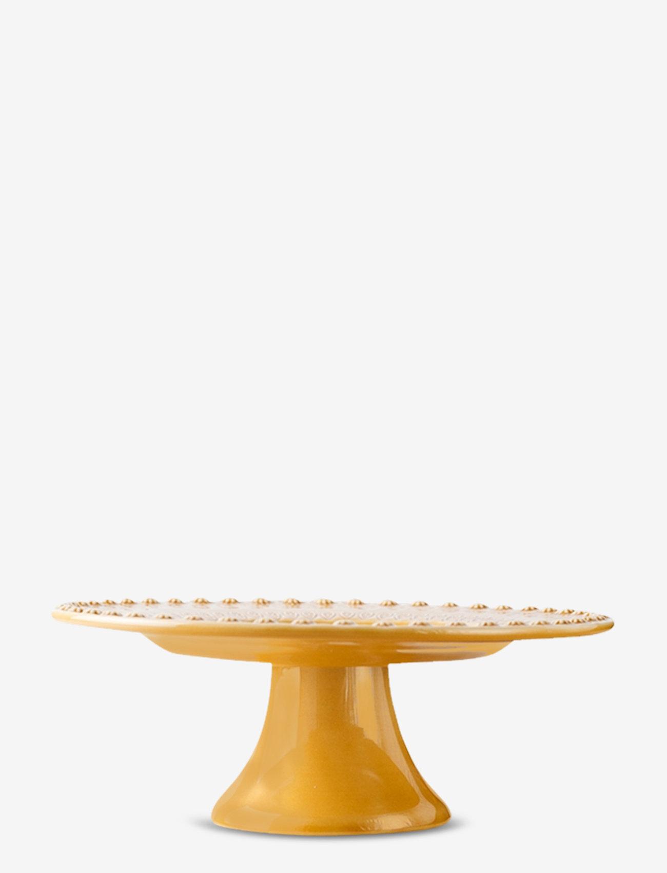 PotteryJo - DAISY Cakeplate Large 35 cm - kakefat - sienna - 0