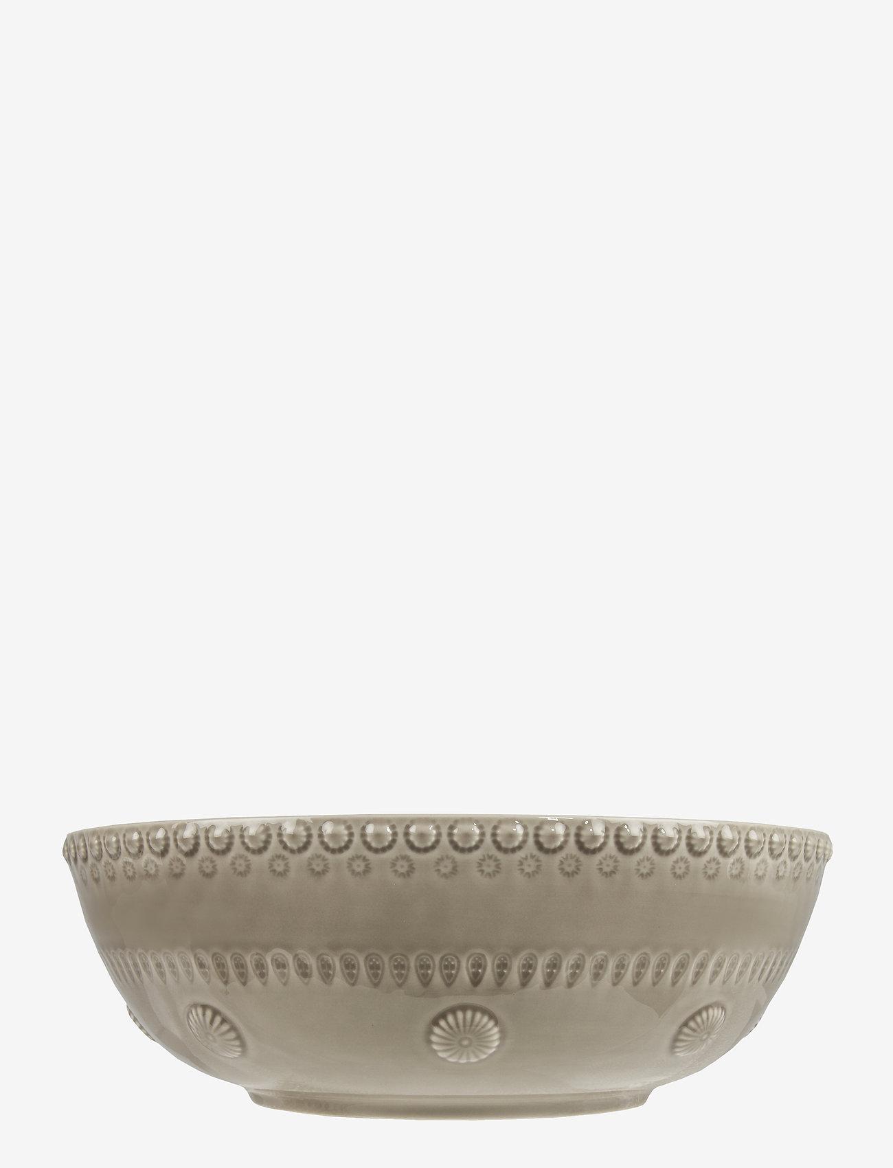 PotteryJo - Daisy Saladsbowl 23 cm - salaattikulhot - greige - 0