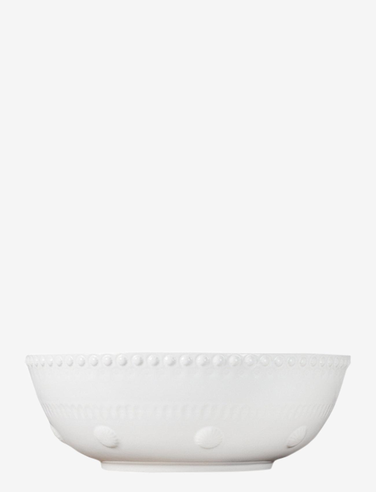 PotteryJo - Daisy Saladsbowl 23 cm - salaattikulhot - white - 0