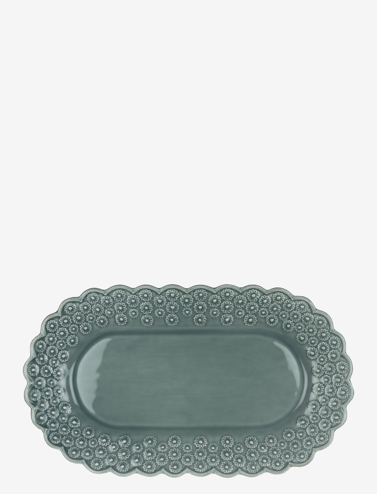 PotteryJo - DITSY Oval platter 1-PACK - shop etter pris - cement - 0