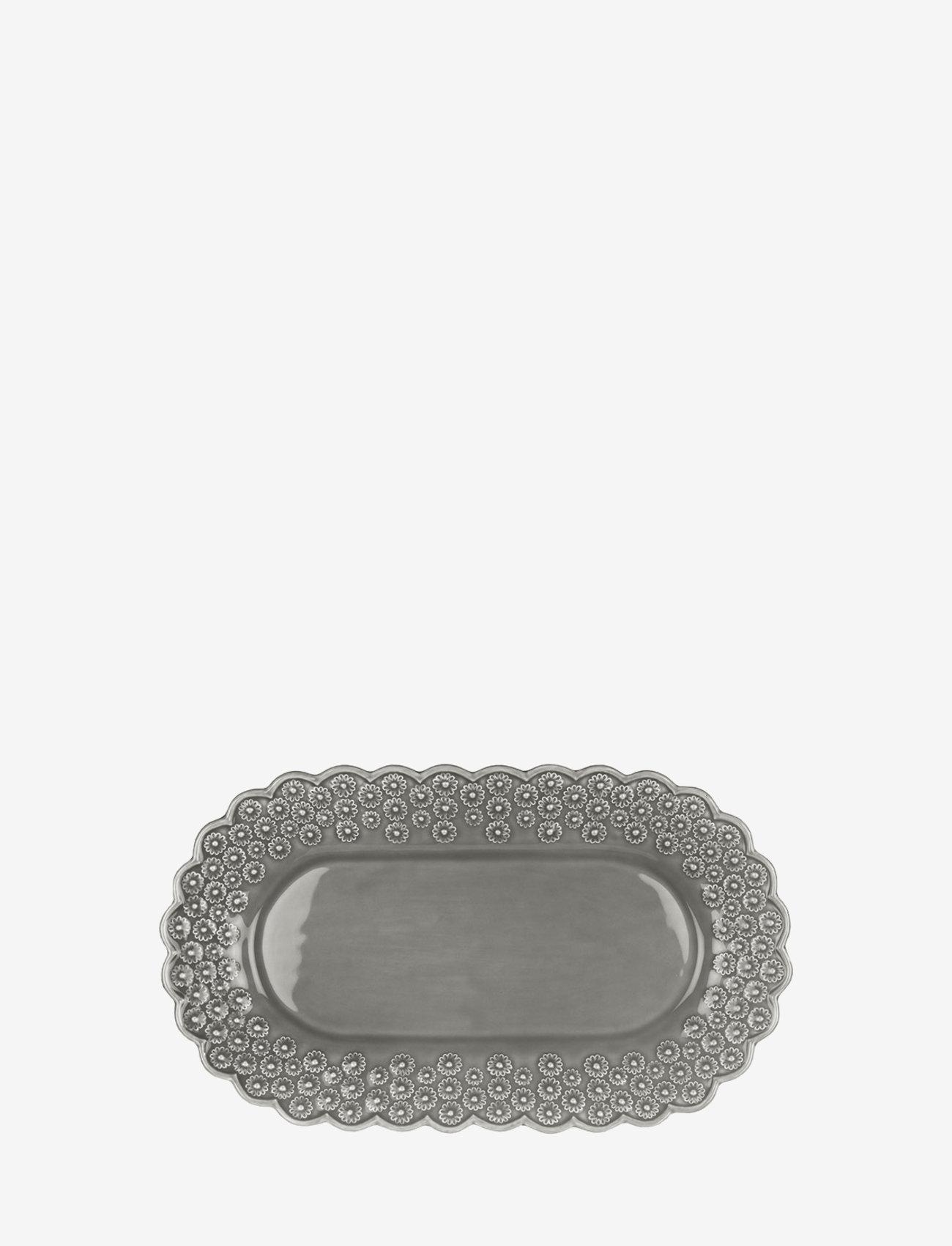 PotteryJo - DITSY Oval platter 1-PACK - shop etter pris - soft grey - 0