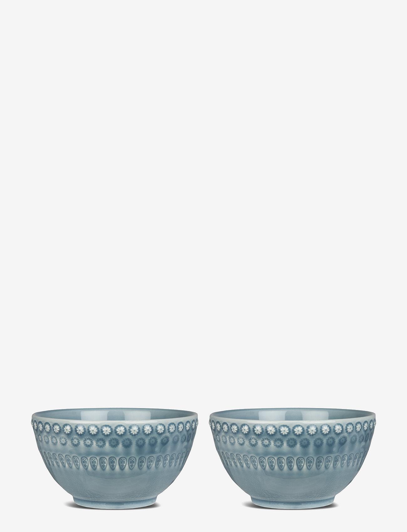 PotteryJo - DAISY Small Bowl 2-PACK - tarjoilukulhot - dusty blue - 0