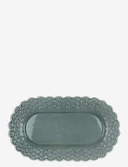 DITSY Oval platter 1-PACK - CEMENT