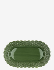 DITSY Oval platter 1-PACK - FOREST