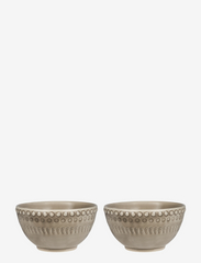 DAISY Small Bowl 2-PACK - GREIGE