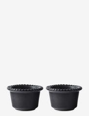 DARIA bowl 12 cm stoneware 2-pack - INK BLACK