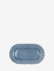 DITSY Oval platter 1-PACK - skålar - dusty blue