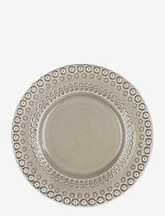 DAISY Dessertplate 22 cm 2-PACK - assietter - greige