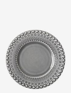 DAISY Dessertplate 22 cm 2-PACK - leipälautaset - soft grey