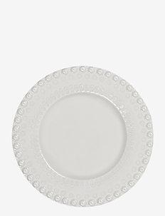 DAISY Dessertplate 22 cm 2-PACK - assietter - white