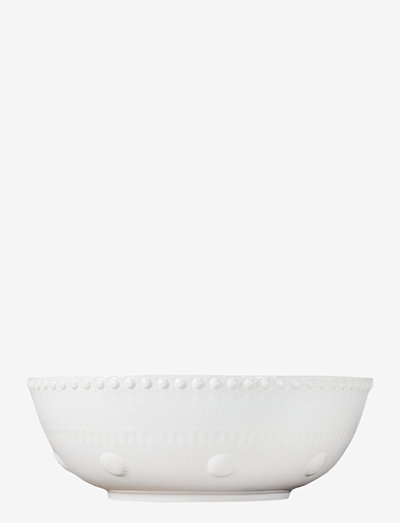 Daisy Saladsbowl 23 cm - salaattikulhot - white