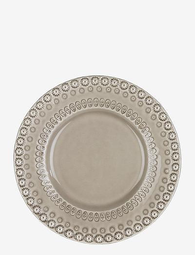 DAISY Dessertplate 22 cm 2-PACK - leipälautaset - greige