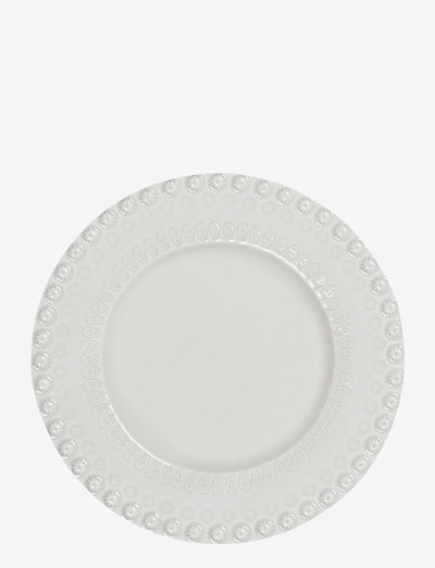 DAISY Dessertplate 22 cm 2-PACK - leipälautaset - white