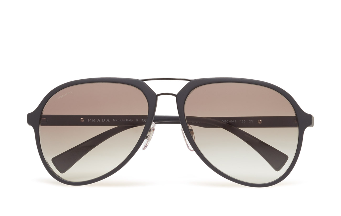 0678a62b76c3 Double Bridge (Black Rubber grey Gradient) (£177) - Prada Sport ...