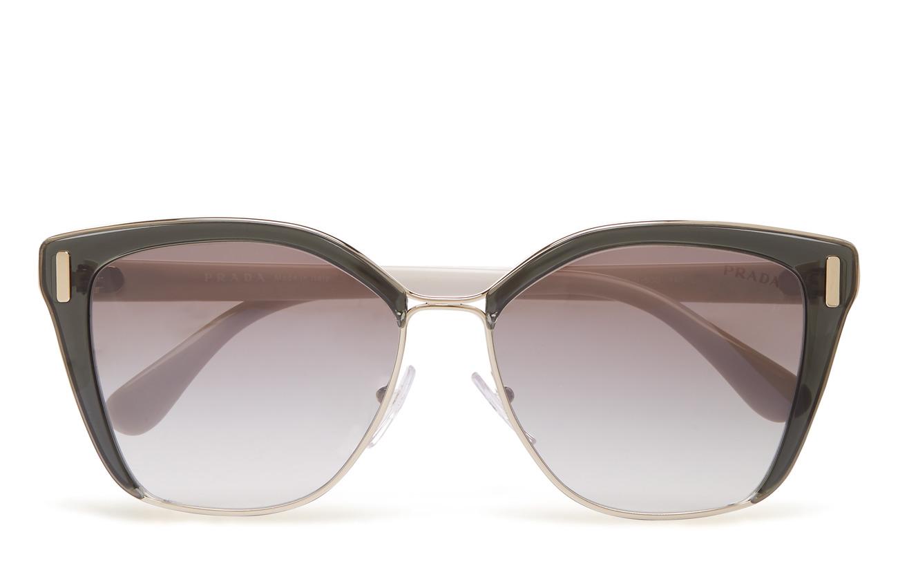 Prada Sunglasses 0PR 56TS - TRANSPARENT GREY/PALE GOLD