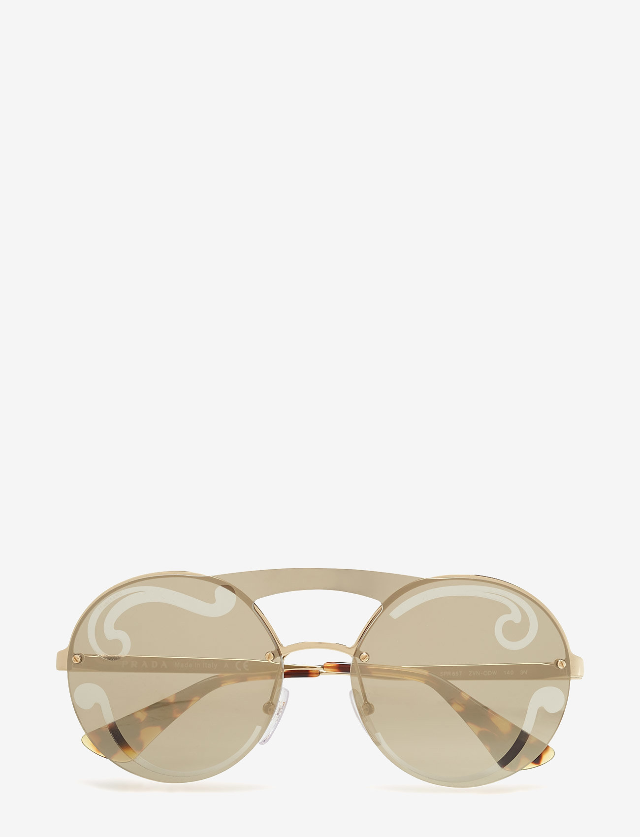 Prada Sunglasses - Not Defined - round frame - pale gold - 0