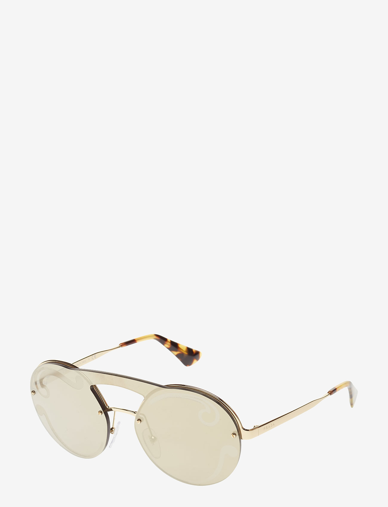 Prada Sunglasses - Not Defined - round frame - pale gold - 1