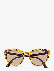 Prada Sunglasses - round frame - orange havana