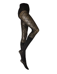 PP PATTERN MODAL SOCK TIGHTS - BLACK