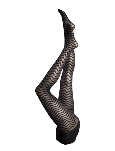 HH ZIG ZAG TIGHTS - BLACK