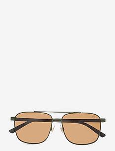 Sunglasses - d-shaped - olive