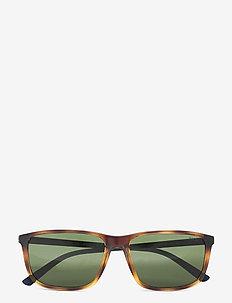 Sunglasses - d-shaped - bottle green