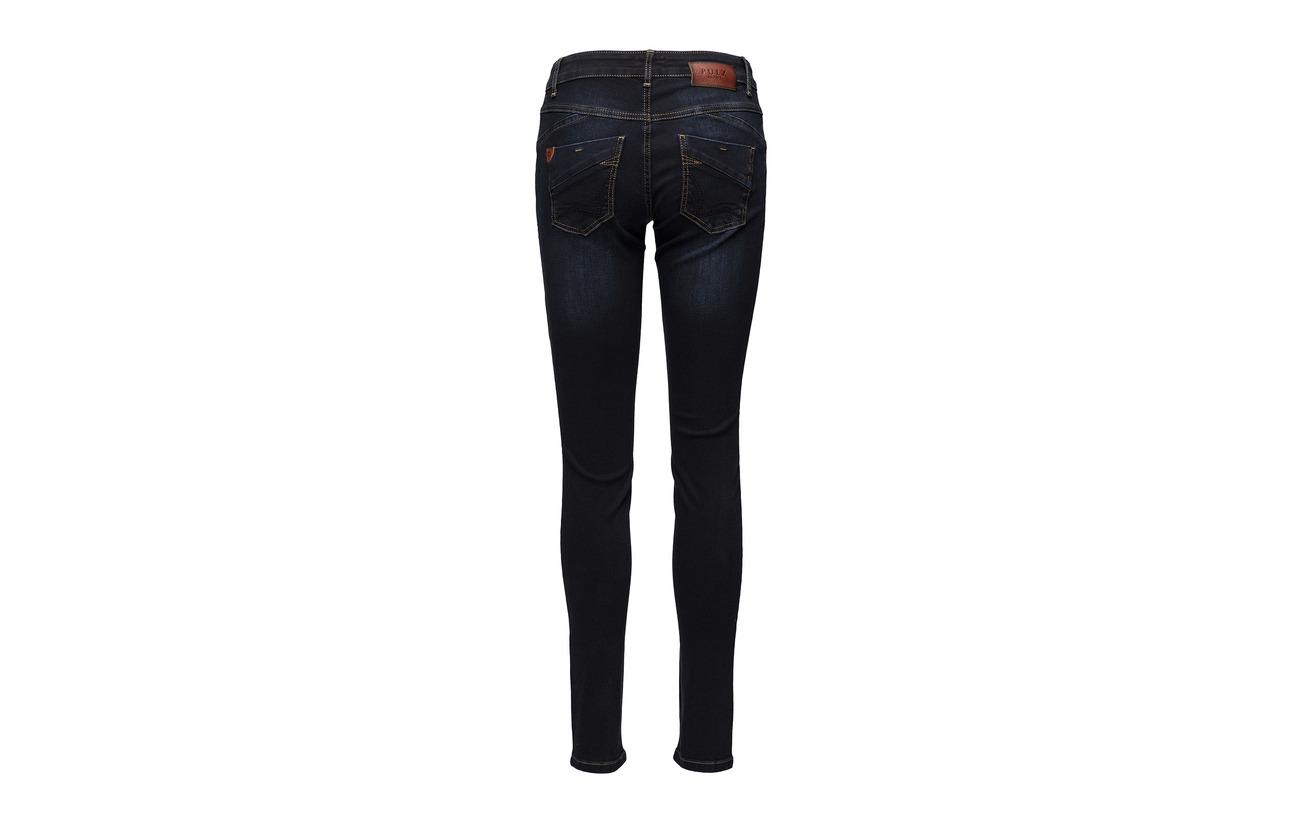 2 Carmen 98 Coton Blue Dark Pulz Skinny Highwaist Jeans Elastane Hqwqf1U
