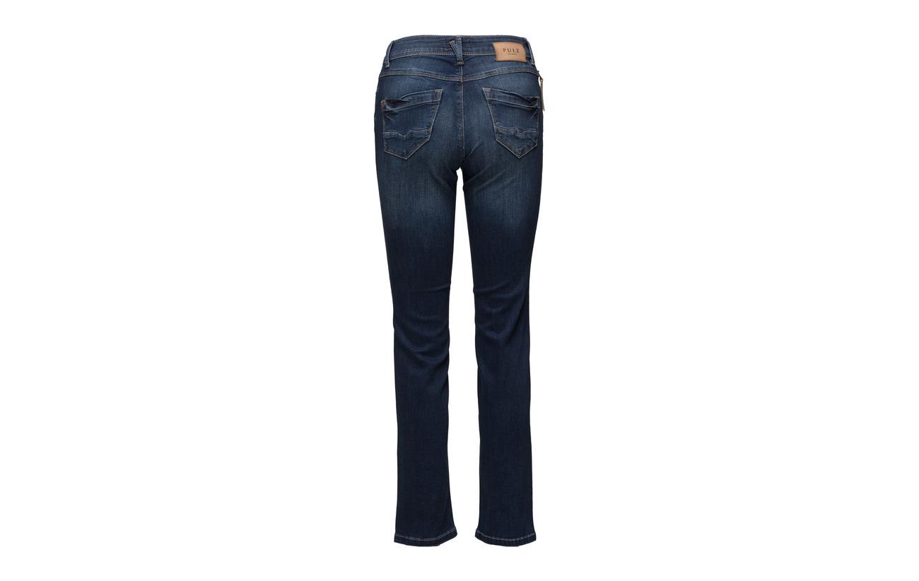 2 Elastane 98 Jeans Denim Coton Blue Pulz Highwaist ' Karolina Medium Straight vaaPpqw