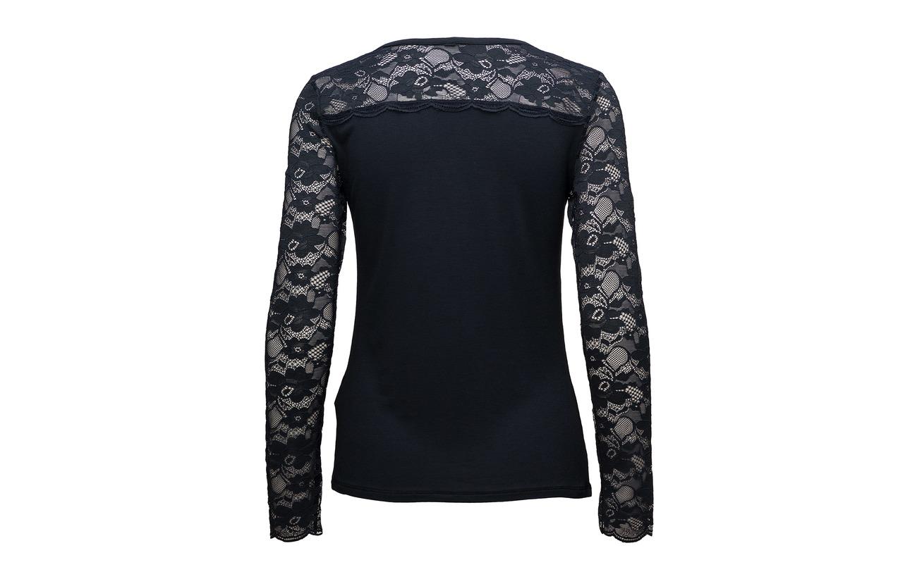 Pulz s shirt L Trisse Jeans Viscose Elastane T Blue 5 Marine 95 TTwqaHx